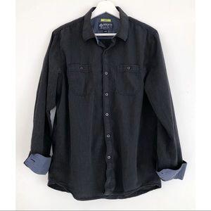 AMERICAN RAG Grey Long Sleeve Button Down Shirt